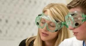 Female GOB chemistry student